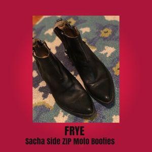 Frye, Sacha zip Moto Booties, Size 10